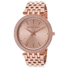 Michael Kors Women's MK3192 'Darci' Rose Goldtone Stainless Steel Watch - Overstock™ Shopping - Big Discounts on Michael Kors Michael Kors Women's Watches