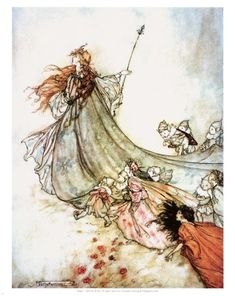 Fairy Queen Titania a Midsummer nights dream illustration arthur rackham Arthur Rackham, Fantasy Kunst, Fantasy Art, Fantasy Fairies, Fairy Queen, Fairytale Art, Midsummer Nights Dream, Fairy Art, Fairy Tales