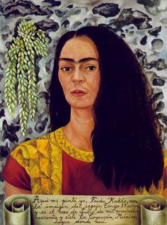 Self Portrait With Loose Hair by Frida Kahlo