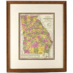 Georgia State Map | Ballard Designs