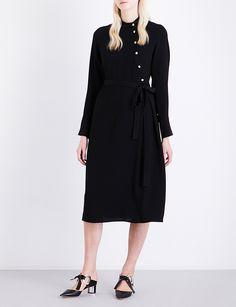 OSMAN Melinda asymmetric crepe dress