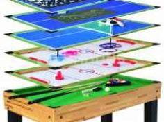 Multijuego 12 en 1 (billar, futbolin, hockey Hockey, Triangle, Games, Home, Board Games, Chess, Business, Parks, Toys