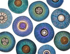 Textures for fall | Polymer Clay Daily Helen Breil