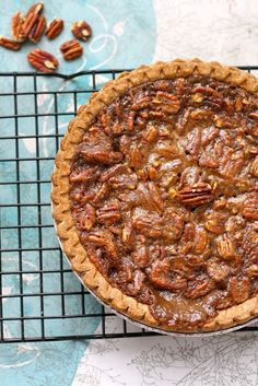 Here is the second pie I made for Thanksgiving this year! I have never actually had pecan pie before and figured my switch to veganism ...