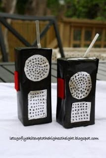 Thinking outside the box - Juice Box Walkie Talkies