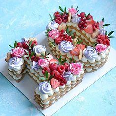 Очередная циферка 2️⃣9️⃣ Каждый торт неповторимый и только для Вас❤️ ————————————————-#тортмосква #торт #тортик #тортыназаказ… Biscuit Cake, Dessert Recipes, Desserts, Panna Cotta, Biscuits, Birthday Cake, Ethnic Recipes, Instagram, 1990