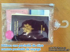 Diy Trousse, Voyager Loin, Plastic Pouch, Going On A Trip, Free Travel, Lunch Box, Slip, Documents Importants, January 26