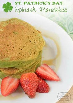 St. Patrick's Day Spinach Pancakes | Family Gone Healthy