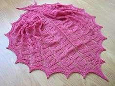A nice therapy shawl using yarn held double.
