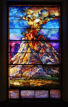 Mount Sinai Tiffany window -  Congregation Beth Ahabah Museum and Archives, Richmond, Virginia