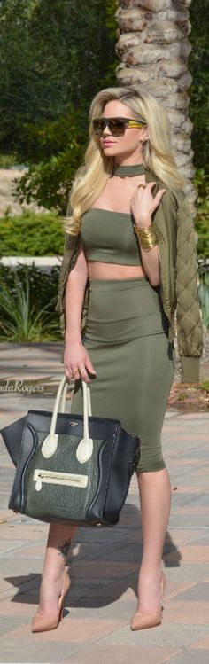 Alexander Mcqueen Green / Fashion Look by Shanda Rogers