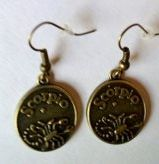 Antique Bronze Scorpio Earrings On the back they say Passionate  http://TheFunkyFysh.Etsy.com