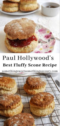 Would you love to make light, fluffy, tall scones? Look no further - Paul Hollywood& best fluffy scone recipe is the one! British Baking Show Recipes, British Bake Off Recipes, Great British Bake Off, Baking Recipes, Dessert Recipes, Scone Recipes, Great British Chefs, Scottish Recipes, Tea Cakes