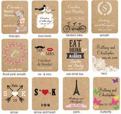Exclusive Vintage Personalized Tea Bag Favor - Tea Time Theme Wedding Favors - Wedding Favor Themes - Wedding Favors & Party Supplies - Favo...