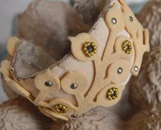 Handmade Fabric over metal cuff by FragmentsEtc on Etsy, $55.00