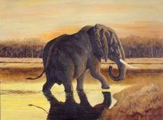 Sunset Bath Moose Art, Elephant, My Arts, Horses, Bath, Sunset, Animals, Sunsets, Animaux