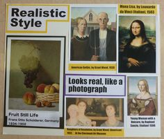How I teach styles of art: Realistic poster