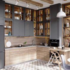 Kitchen Room Design, Kitchen Dinning, Best Kitchen Designs, Home Decor Kitchen, Interior Design Kitchen, Kitchen Furniture, Home Kitchens, New Kitchen, Elegant Kitchens