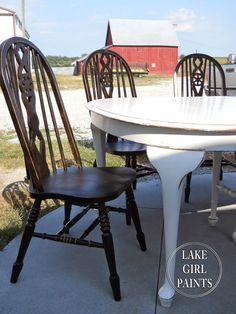 Lake Girl Paints: Painting Farmhouse Furniture -Shortcut Spraypaint Black