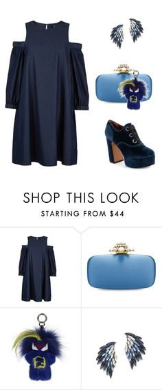 """Bluish"" by carlafashion-246 ❤ liked on Polyvore featuring TIBI, Oscar de la Renta, Fendi, Juliet & Company and Marc Jacobs"