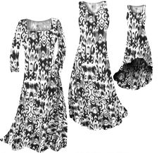 87e90d6bea8 Black   White Ink Blots Slinky Print Plus Size   Supersize Short or Long