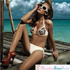 Are you ready to get the FUN & FLATTERING occasion?!  Preparing to turn heads on in a New Stylish Swimsuits?   Get our Latest Fashionable Sexy Women Halter Bra Sized Bikini Swimwear for your little vacation at the beach with your love ones. Stroll along the Beach with our characteristic Halter Bra Sized Bikini Swimwear. It'll fit perfectly for every women with it's charming & stylish design.