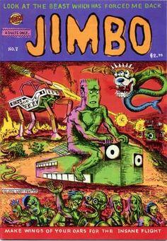 Jimbo - Comic Book - By Gary Panter - From Zongo Comics - Rare Grafic Novel, Comic Art, The Creator, Beast, Novels, Comics, Books, Panther, Wednesday