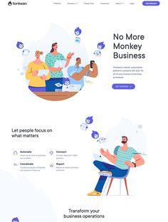 Web Design, Homepage Design, Tool Design, Best Landing Page Design, Best Landing Pages, Landing Page Inspiration, Design Inspiration, Wireframe Web, No More Monkeys