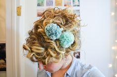 DIY Hair Pom Poms by Stacie Stacie Stacie, via Flickr