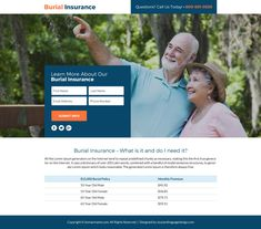burial insurance lead funnel landing page design