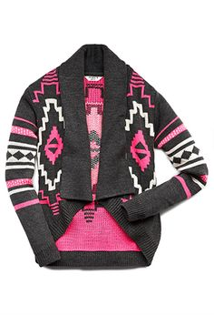 Little Traveler Neon Cardigan (Kids) | FOREVER21 girls - 2000128641