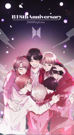 Bts Wallpaper Lyrics, K Wallpaper, Foto Bts, Bts Taehyung, Bts Jungkook, Bts Art, Bts Army Logo, Bts Anime, Fanart Bts