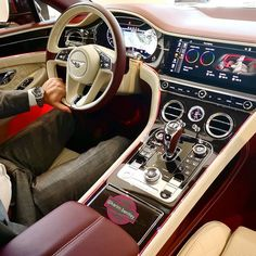 Super Sport Cars, Super Cars, Car Interior Upholstery, Car Interior Design, Bentley Car, Bentley Continental Gt, Expensive Cars, Amazing Cars, Car Pictures