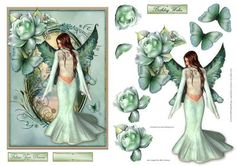 Follow Your Dreams on Craftsuprint designed by Gillian Hutchinson - Fantasy Fairy, roses