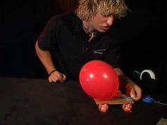 Balloon powered car - YouTube