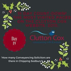 Our 31 Day Countdown of our best content of 2015!: Day 19. #chippingsodbury #solicitors #conveyancing
