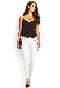 Zippered Midrise Skinny Jeans   FOREVER21 - 2000122871