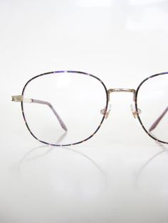 4d9ba88801 Vintage Deadstock Wire Rim Glasses Eyeglasses 1980s Nerdy Geek Chic Indie  Hipster Womens Ladies Girl New