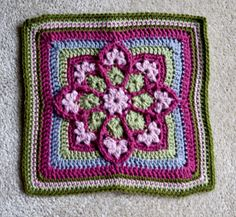 hooked-on-needles:    (via Ravelry: JulieAnny's Stained Glass Afghan Square pattern by Julie Yeager)