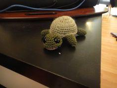 tiny crochet turtle