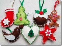 Ideas y moldes para adornos de fieltro Navidad (shared via SlingPic)