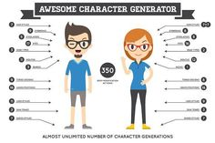 Awesome Character Generator 1.0 by Ckybe's Corner on @creativemarket