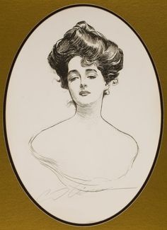 Mainstream Illustration, CHARLES DANA GIBSON (American, 1867-1944). Gibson Girl, A Widowand Her Friends, book cover, 1901. Print on paper. 1...
