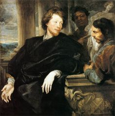 1623 - George Gage with Two Men - Anthony van Dyck