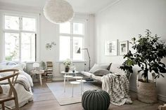 Cosy apartment of only 34 square meters House Decoration Items, Diy Home Decor, Patio Interior, Interior Design, Interior Stylist, Cosy Apartment, Studio Apartment, Cozy Place, Scandinavian Interior