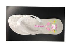 e533de4da82afd Personalised Wedding or Hen Bachelorette Party Flip Flops Wedding Flip Flops