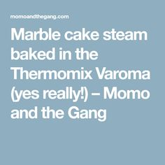 Marble cake steam baked in the Thermomix Varoma (yes really!) – Momo and the Gang