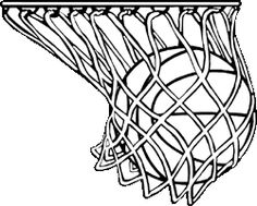 Basketball Net Vector Clipart - Gallery