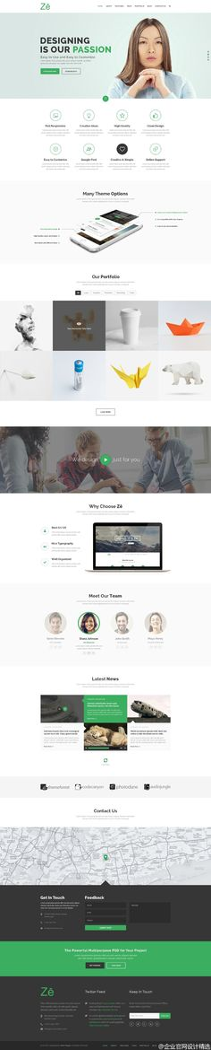 Free Creative One Page Portfolio Website Template PSD - free resume website templates