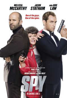 """Spy / Melissa McCarthy and Jason Statham and Jude Law"" - Funny Movies, Comedy Movies, Great Movies, Hd Movies, Movies To Watch, Movies Online, Movies And Tv Shows, Jason Statham, See Movie"